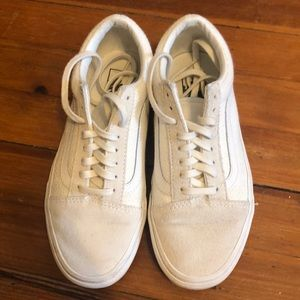 White Vans woven and suede duo